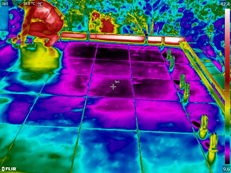 water under tiles thermal imaging