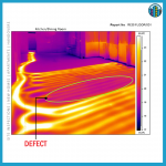 Thermal imaging finding defects in floor