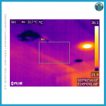Thermal imaging to detect water leaks